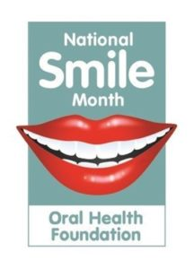 national smile month logo