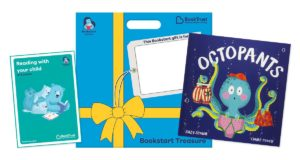 The Bookstart treasure pack which includes a book titled 'Octopants'