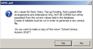Sims screenshot of Census Return copying a return