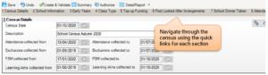 Sims screenshot of Census Return for navigating through the census